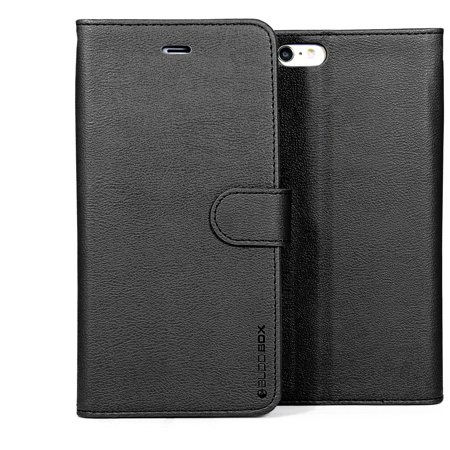 sports shoes fac75 91b2b BUDDIBOX iPhone 6S PLUS / 6 Plus Case Premium PU Durable Leather Wallet  Folio Protective Cover Case for Apple iPhone 6 PLUS / 6S PLUS