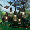 Better Homes & Gardens 15 Count Edison Bulb String Lights, Black Wire