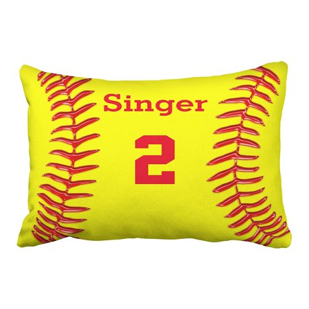 BPBOP Monogram Personalized Softball Name And Number Pillowcase 20x30 (Softball Pillowcase)