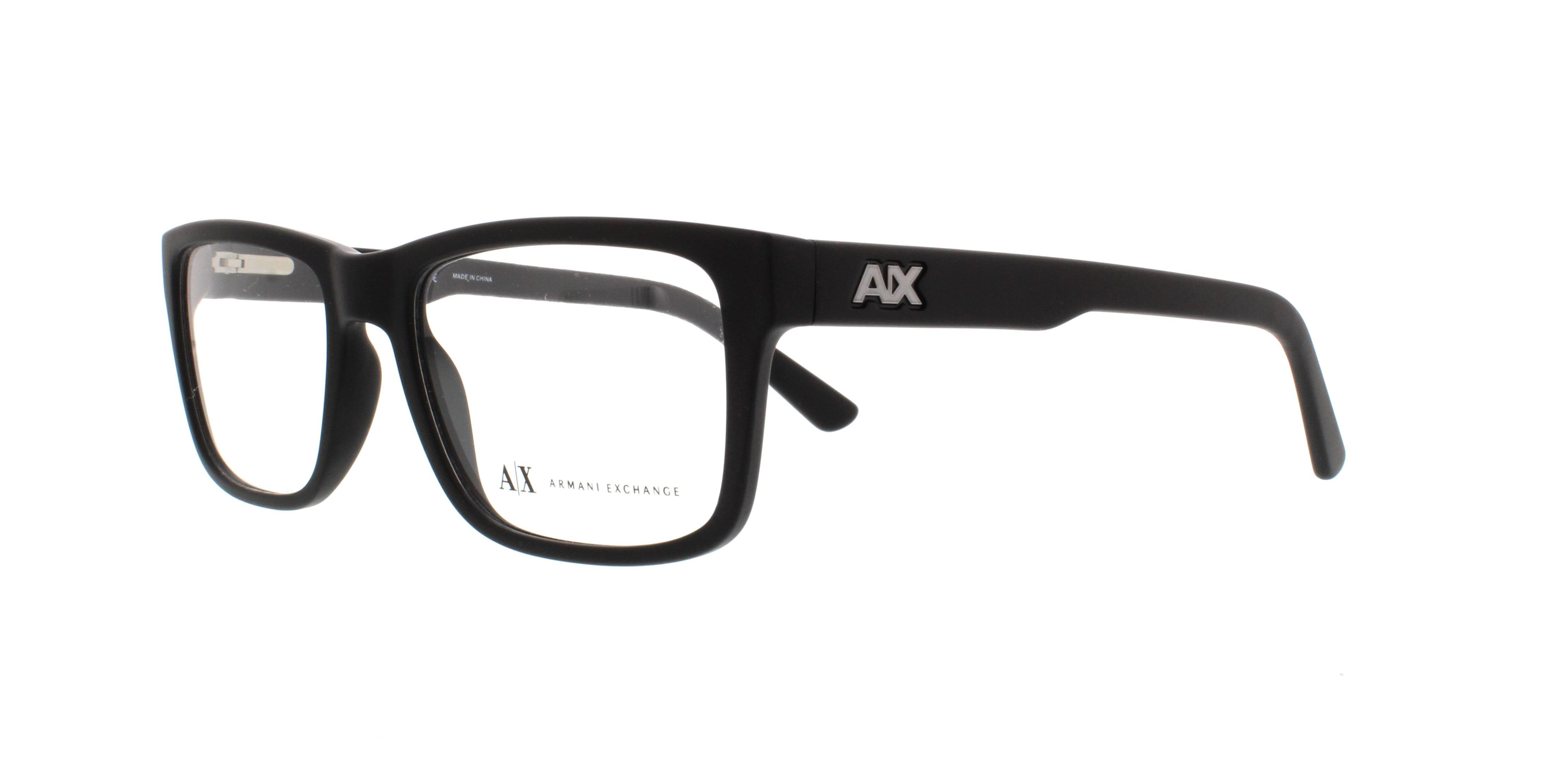 6258856d30 ARMANI EXCHANGE Eyeglasses AX3016 8078 Matte Black 53MM - Walmart.com