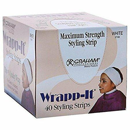 Graham Maximum Strength Wrapp-it Styling Strips White (40 strips) (Cricket Whole Kit)