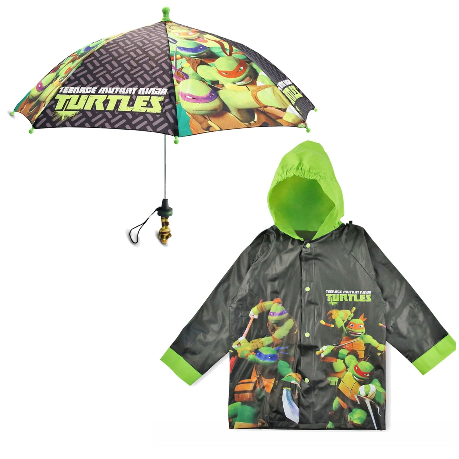 Nickelodeon TMNT Slicker and Umbrella Rainwear Set, Little Boys, Age 2-7