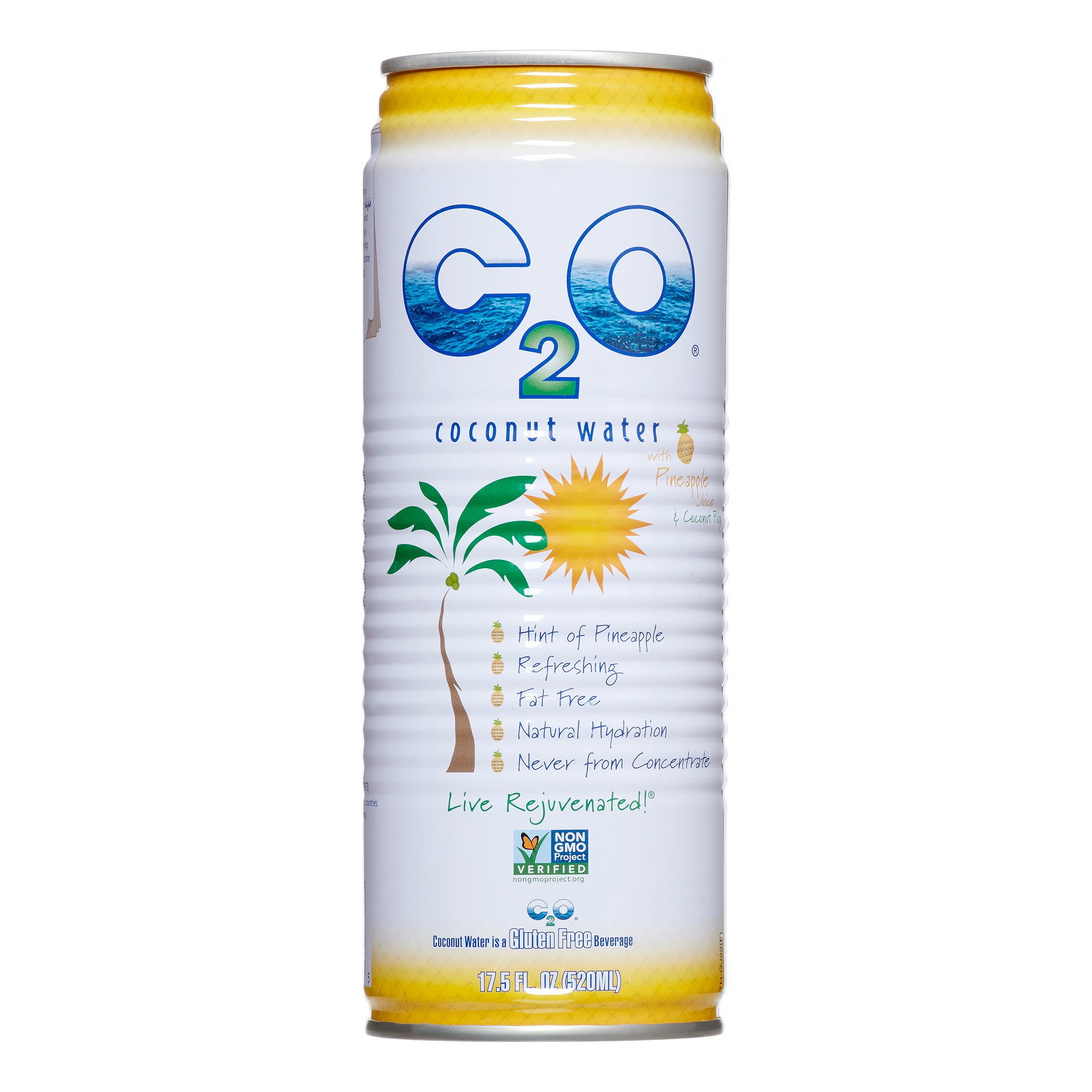 C2O Pure Coconut Water with Pineapple, 17.5 Fl Oz, 12 Ct