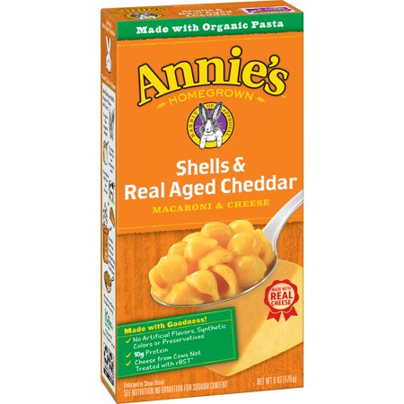 Cheddar Cheese Rice - Annie's Macaroni and Cheese Shells & Aged Cheddar Mac and Cheese 6 oz
