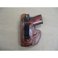 Colt Mustang 380 IWB Molded Leather Concealed Carry Holster CCW TAN LH