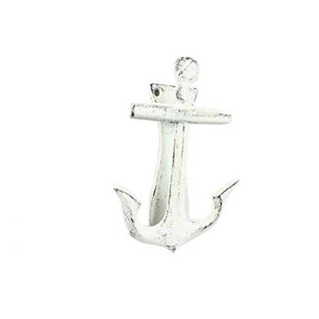 Rustic Whitewashed Cast Iron Decorative Anchor Door Knocker 6 Inch - Anchor Decoration - image 1 of 1
