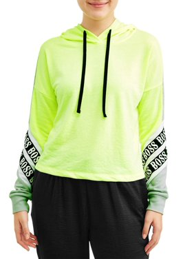 No Boundaries Juniors' Color Block Hoodie