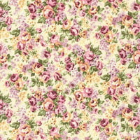 Emma 2- Packed Bouquet/Primrose by Robert Kaufman - Cotton Fabric