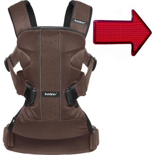Baby Bjorn 093006USKT Baby Carrier One Air With Safety Reflector Light Brown by BabyBj%C3%B6rn