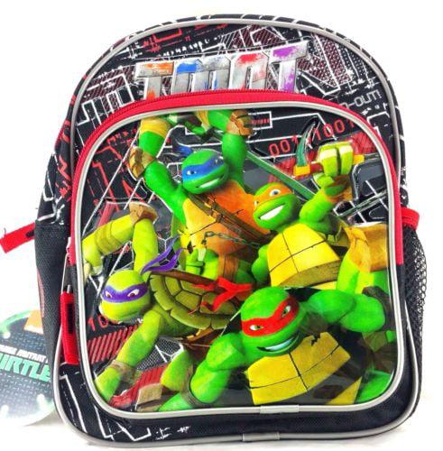 "Teenage Mutant Ninja Turtles 10"" Canvas Black & Red School Backpack"