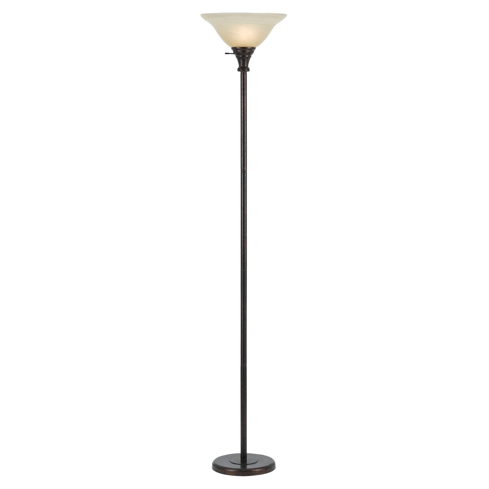 Cal Lighting BO-213 Metal Torchiere with Glass Shade by CAL Lighting
