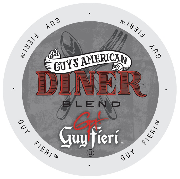 Guy Fieri Coffee Guy's American Diner Blend, Single Serve Cup Portion Pack for Keurig K-Cup Brewers, 96 Count