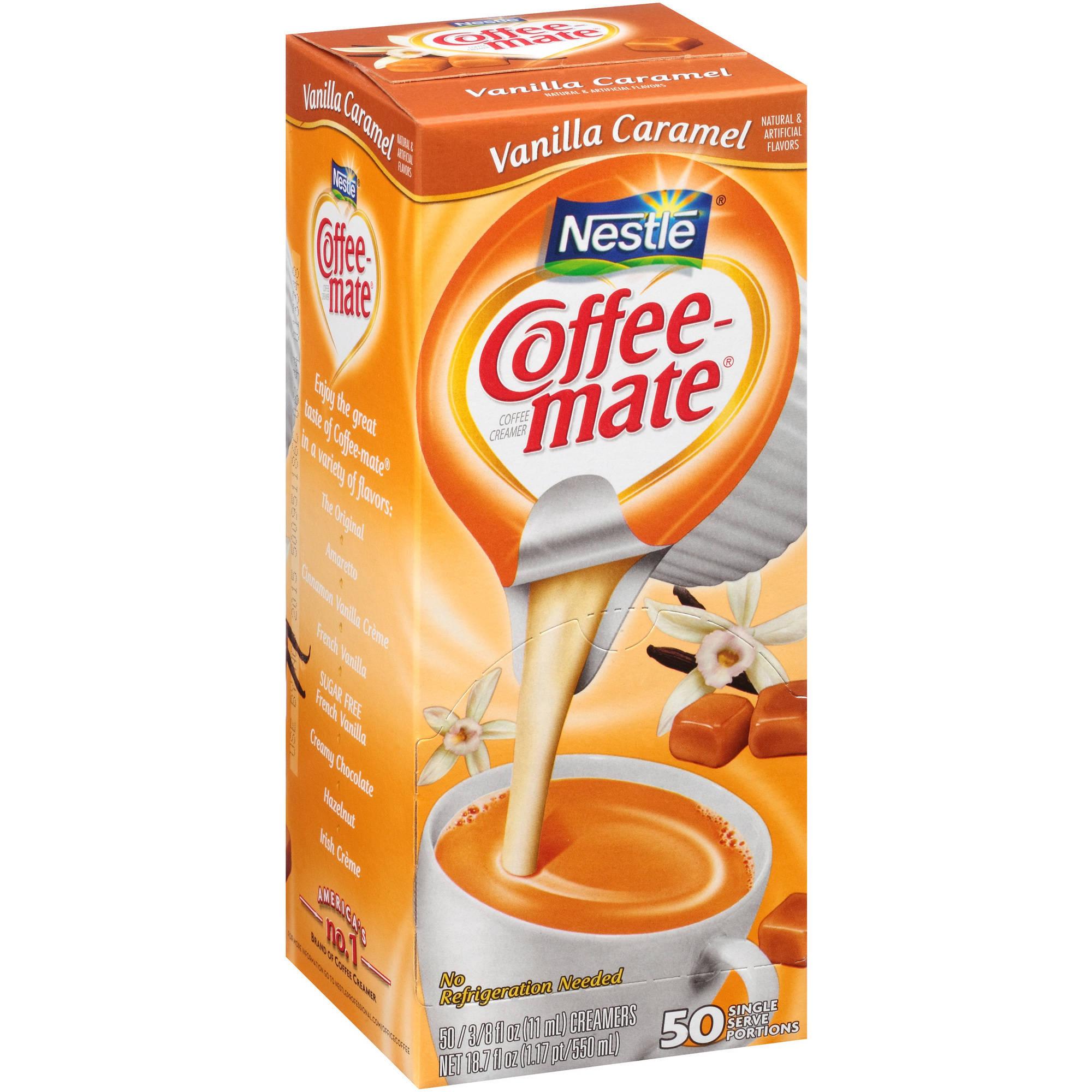 Nestlé Coffee-mate Vanilla Caramel Coffee Creamer 50-0.375 fl. oz. Tubs