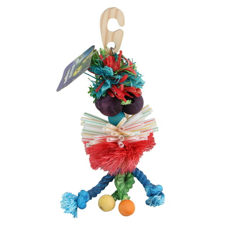 Plastic Wood Rope Bird Hanging Toy