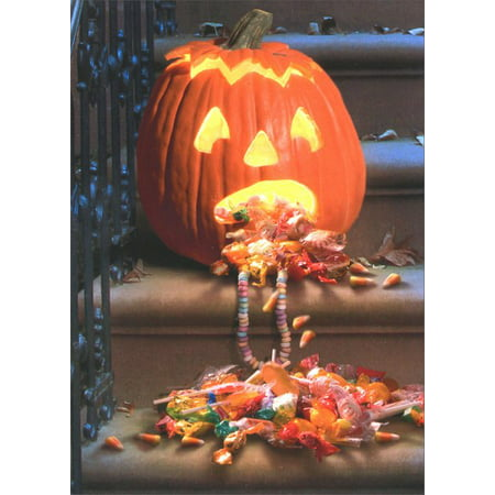 Avanti Press Pumpkin Pukes Candy Funny / Humorous Halloween Card