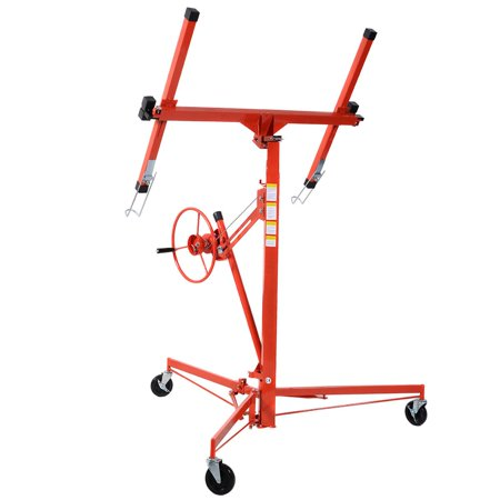 11' Drywall Lift Panel Hoist Dry Wall Jack Rolling Caster Lifter Lockable ()