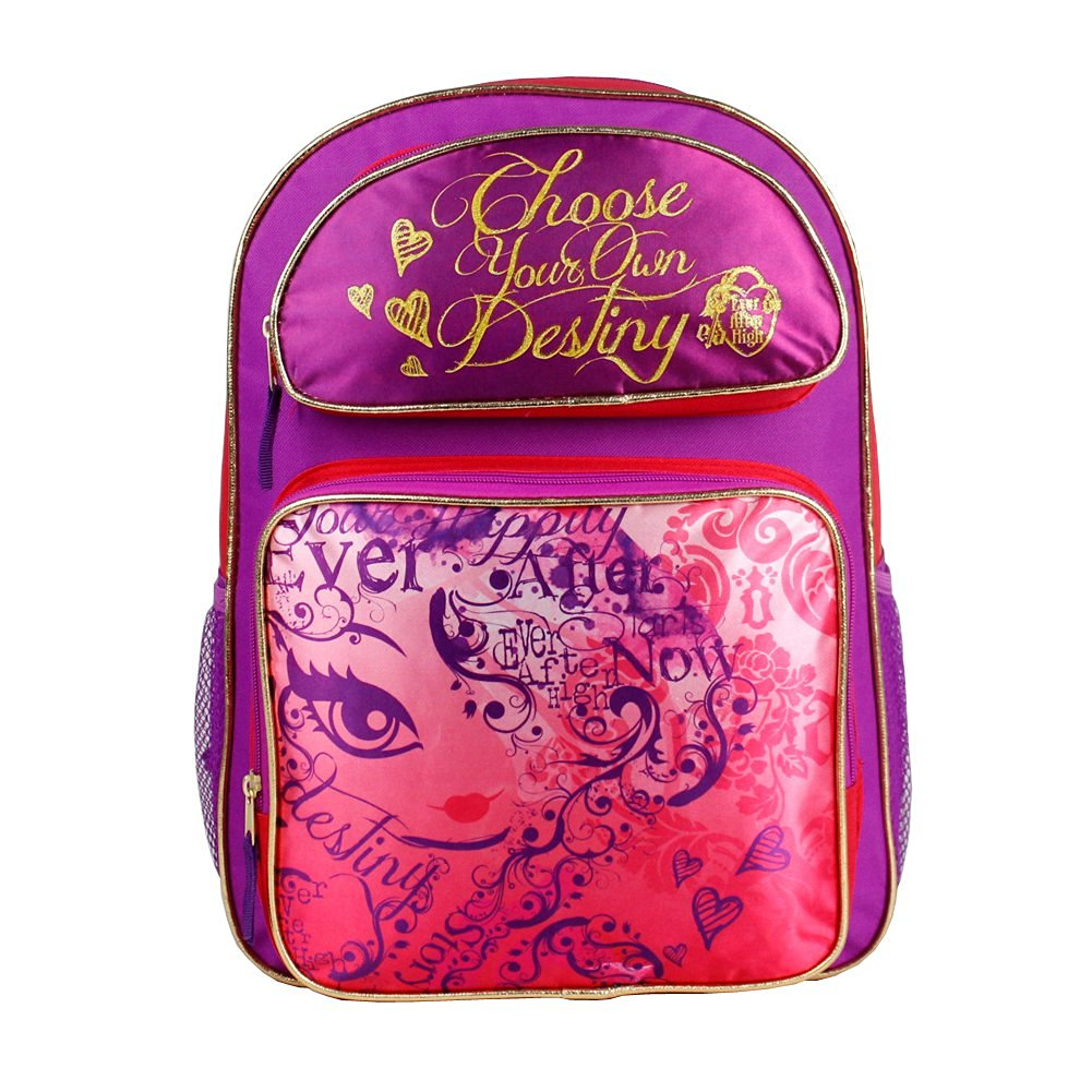 """Backpack - Ever After High - Choose Your Own Destiny 16"""" New 085968"""