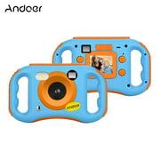 Andoer CDE7 WiFi Kids Creative Camera 5MP 1080P HD Digital Anti-drop Children Camera Mini Video Camcorder with 1.77 Inch LCD Display 5X Digital Zoom WiFi Share Built-in Flash & Mic Special Photo Effec