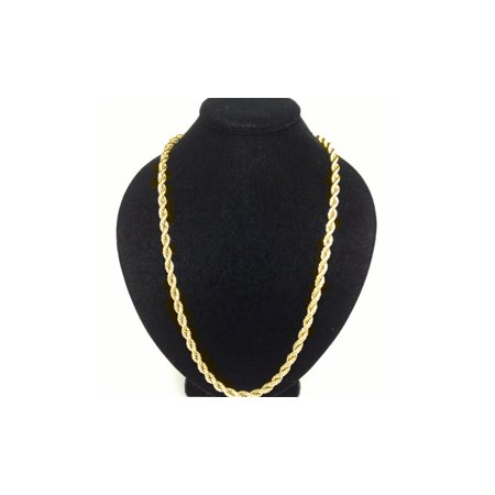 Solid 10k Yellow Gold 3mm Rope - 3mm Thick Snake Chain