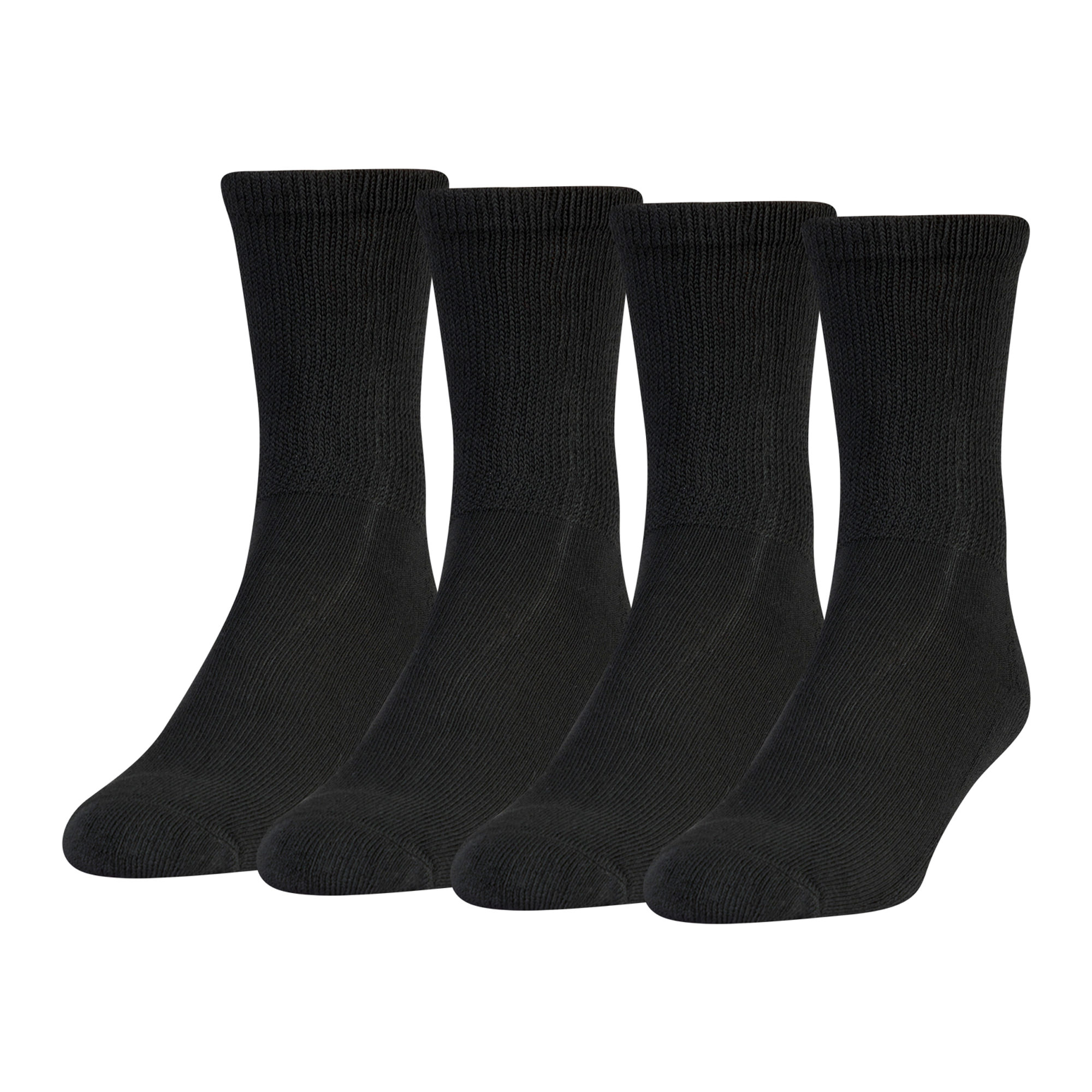 MediPEDS 8 Pair Diabetic Crew Socks with Non-Binding Top