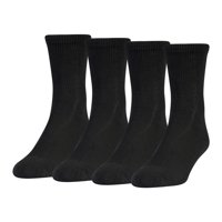 MediPeds Diabetic Crew Socks with Non-Binding Top, Large, 4 Pack