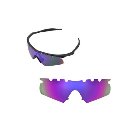 Walleva Purple Polarized Vented Replacement Lenses For Oakley M Frame Hybrid (Vented Sunglasses)