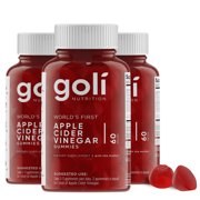 (3 Pack) Goli Nutrition Apple Cider Vinegar , 60 ct per bottle