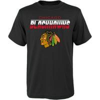 Youth Black Chicago Blackhawks T-Shirt