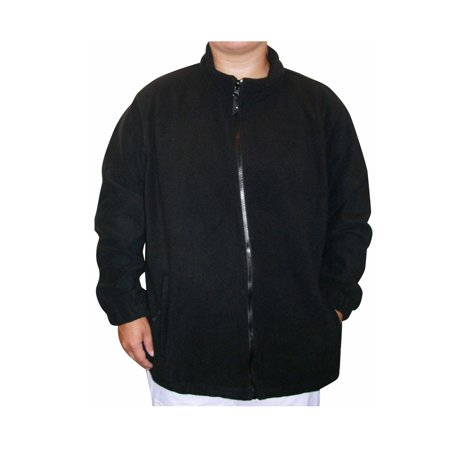c57d16b8809 Pulse - Women s Plus Size Fleece Jacket Coat Black 1X-6X - Walmart.com