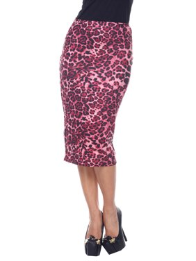 6fd4d48e39 Product Image Women's Printed Pencil Midi Skirt. Product Variants Selector.  Red