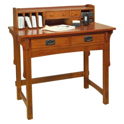 Arts and Crafts Small Desk with Hutch