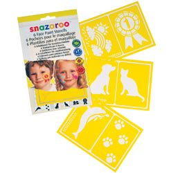 Snazaroo Face Painting Stencils 6/pkg, - Happy Halloween Printable Stencils