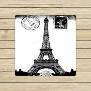 GCKG Frech Paris Eiffel Tower City of Love Black White Hand Towel,Spa Towel,Beach Bath Towels,Bathroom Body Shower Towel Bath Wrap Size 13x13 inches