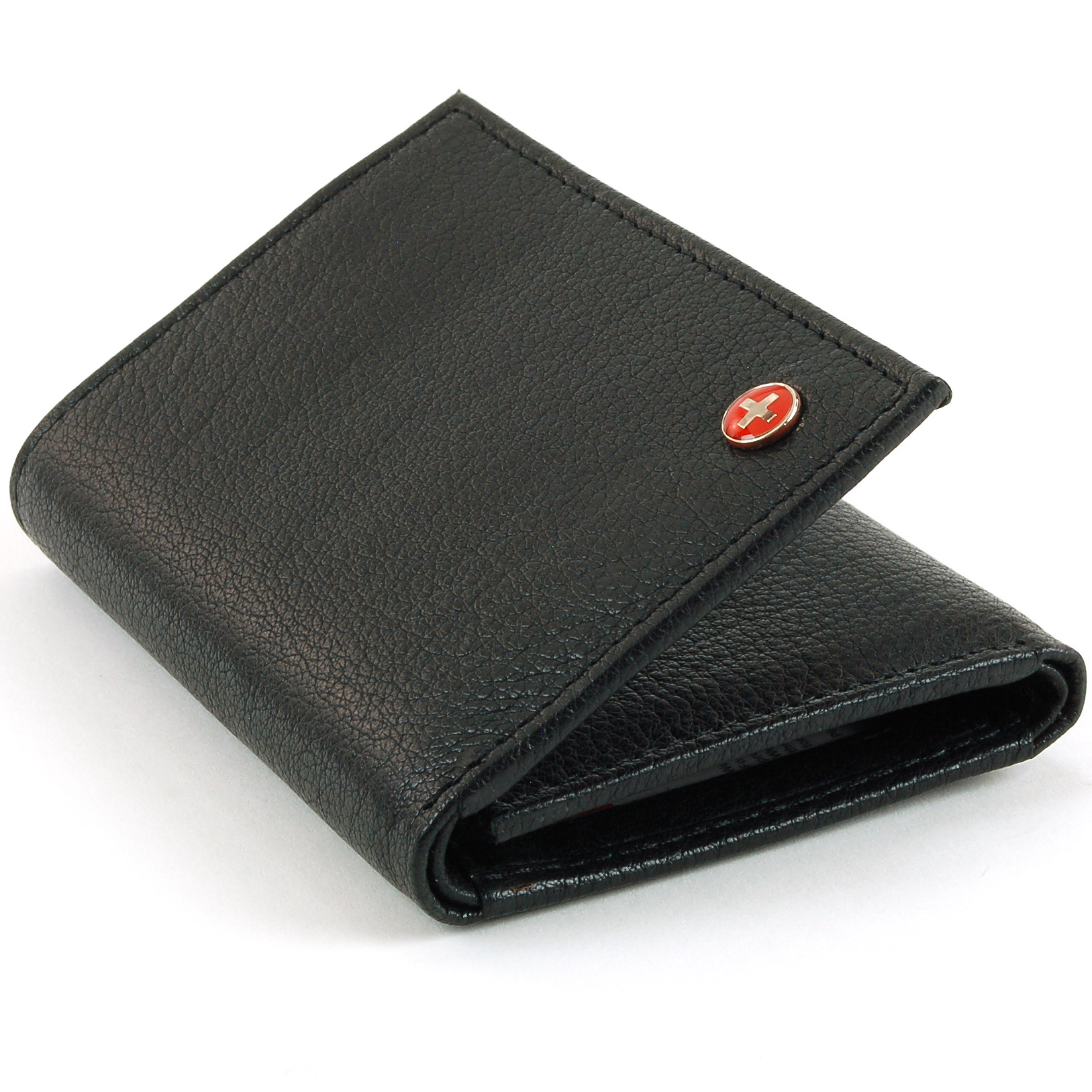Alpine Swiss RFID Blocking Mens Trifold Wallet Leather ID Bill Holder Card Case