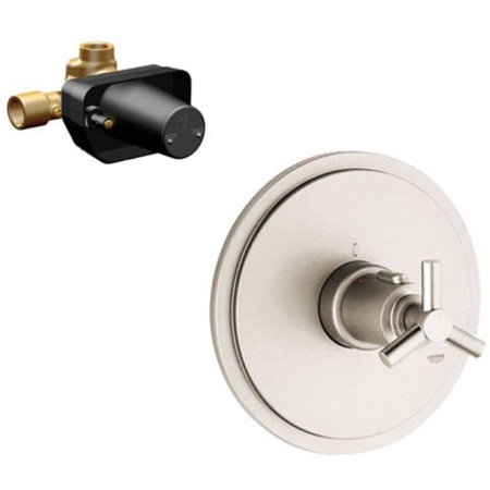 - Grohe K19169-34397R-EN0 Atrio Thermostat Trim with Rough-in, Brushed Nickel