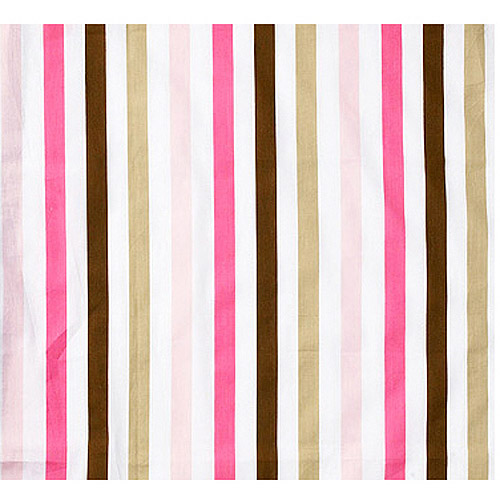 Bacati Mod Dots/Stripes Fitted Crib Sheet 100% Cotton Percale,  Pk/Chocolate