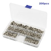 New New 200 Pcs/Sets Clothes Metal Snap Buttons Copper Fasteners Press Studs Cloth Diaper Baby Romper Buckle Snaps with Box Handicraft Sewing Supplies
