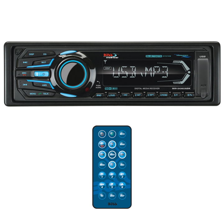Boss Audio Systems MR1308UABK Black AM FM USB SD MP3 Mech-less Player Marine Stereo Receiver with Bluetooth by Boss Audio
