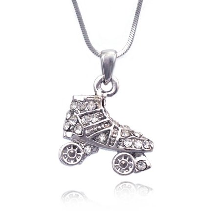 cocojewelry 3D Small Roller Skates Pendant Necklace Jewelry
