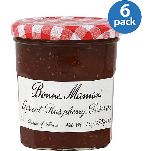 Bonne Maman Apricot Raspberry Preserve, 13 oz, (Pack of 6)