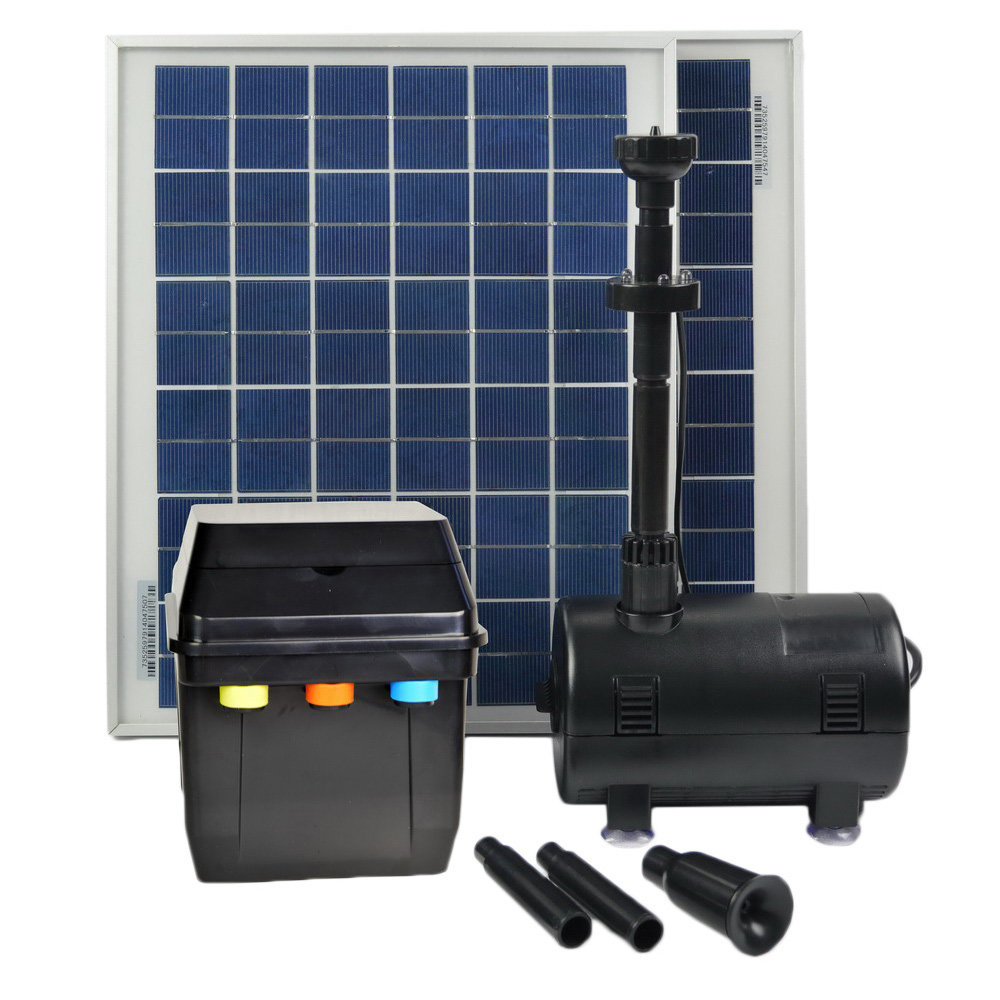 ASC 20W Solar Pond Pool Pump Kit w  Battery Timer Control LED Light Winter Mode by Overstock