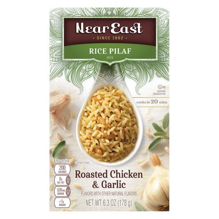 Near East Rice Pilaf Mix - Chicken And Garlic - Pack of 12 - 6.3 Oz.