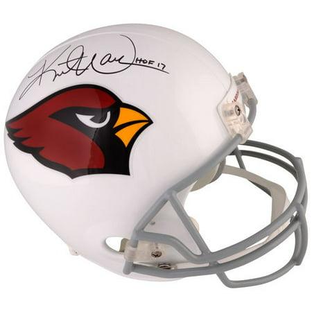 "Kurt Warner Arizona Cardinals Autographed Riddell Replica Helmet with ""HOF 17"" Inscription"