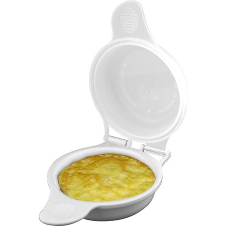 Microwave Egg Maker, a Healthy Breakfast Cooking Utensil by Chef Buddy- Kitchen Essentials, Easy to Make- Holds Up to Two Eggs and Cooks in 45 Seconds