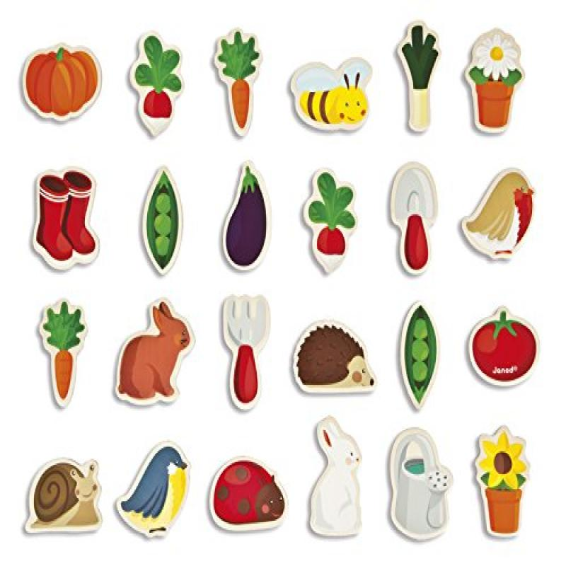 JANOD Set of 24 Garden Magnets