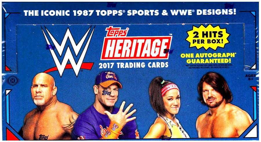 WWE Wrestling 2017 WWE Heritage Trading Card HOBBY Box [24 Packs] by