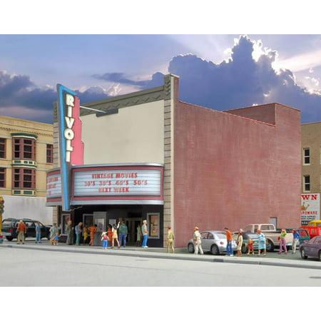 Walthers Cornerstone Kit - Walthers Cornerstone HO Scale Building/Structure Kit Rivoli Movie Theater