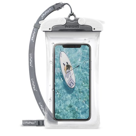 buy online 2cd82 6b98b U-Fix ROUND Waterproof Universal Phone Case [Gray] Clear Pouch Dry Bag for  iPhone X, 8/7 Plus, Samsung Galaxy S9/S9 Plus/S8/S8 Plus/Note 8/6/5/4, ...