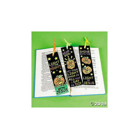 Color Your Own Fuzzy Halloween Christian Pumpkin Bookmarks - Christian Halloween Bookmarks