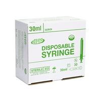 AHS Syringe, 30cc, Luer Slip, 30/BOX